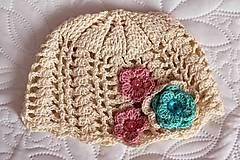 Detské čiapky - Béžová jarná - 5084839_
