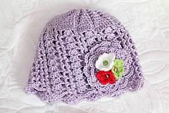 Detské čiapky - jarná fialová - 5084932_