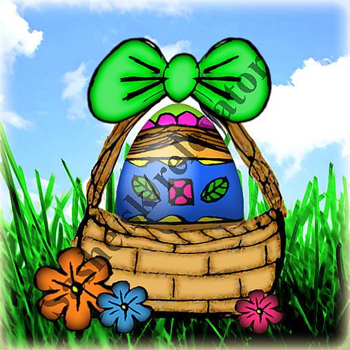 Veľkonočné vajíčko v košíčku 2