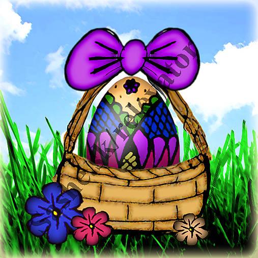 Veľkonočné vajíčko v košíčku 4
