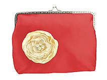 Kabelky - Svadobná kabelka červená,kabelka pre nevestu 1485AD - 5091109_