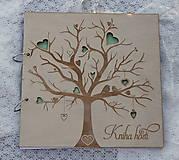 Kniha hostí strom s vtáčikmi