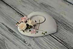 - Romantický shabby svietnik - 5089225_