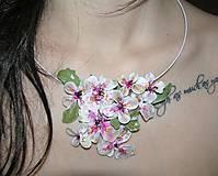 Náhrdelníky - lel , keď kvitne sakura - náhrdelník - 5091159_