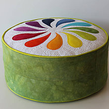 Úžitkový textil - Květinové posezení - 5089903_