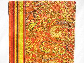 Papier - Servítka Oranžové ornamenty - 5087424_