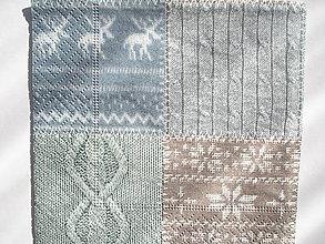 Papier - Servítka malá pletený modrý vzor - 5087640_