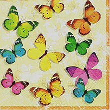 Papier - 376 farebné motýle - 5087108_