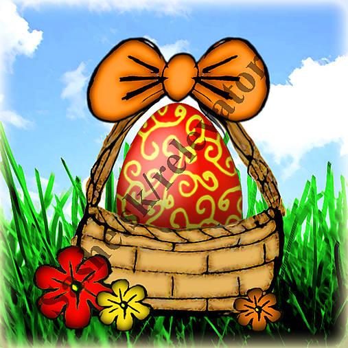 Veľkonočné vajíčko v košíčku 5