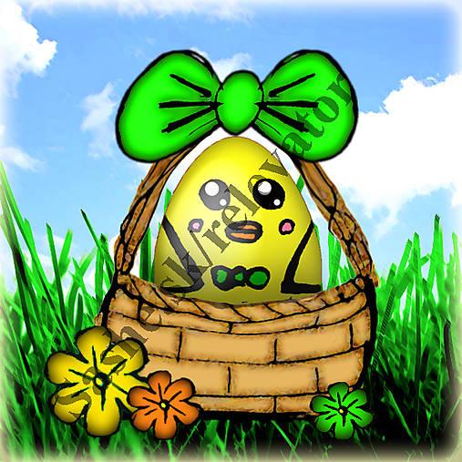 Veľkonočné vajíčko v košíčku 6