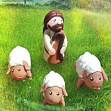 Socha - Ježiš a ovečky - 5090364_