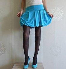 Tehotenské oblečenie - *Tyrkysová pohodlná balonková (i pro těhu)* - 5094900_
