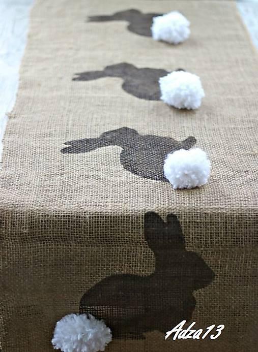 Úžitkový textil - Veľkonočný obrus- zajačik - 5095423_