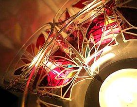 Svietidlá a sviečky - Rozkvitaj podvečerne - maľovaný sklenený svietniček - 5092374_
