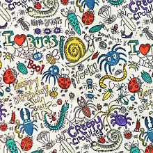 Textil - I love bugs:-), š. 145cm - 5093604_