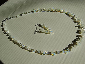 Sady šperkov - náhrdelník a náušnice - zlomky - 5094157_