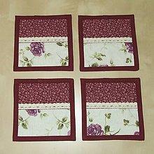 Úžitkový textil - Prestieranie - podšálky ruže a romantika - 5094712_