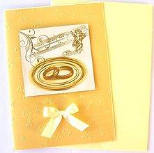Papiernictvo - Svadobná elegantná pohľadnica - 5095057_