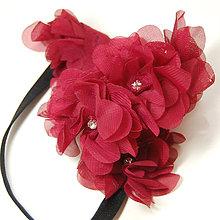 Ozdoby do vlasov - Marsalový věneček ... gumička - 5096412_