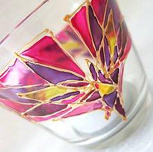 Svietidlá a sviečky - Rozkvitaj - na sladko - maľovaný sklenený svietniček - 5096946_