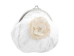 Taštičky - Svadobná kabelka čipková bielá, kabelka pre nevestu 1495B4 - 5099754_