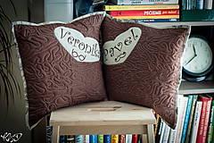 """Úžitkový textil - Vankúšiky """" Veronika a Pavel"""" - 5099741_"""