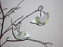 Dekorácie - vtáčik jarný - 5100165_