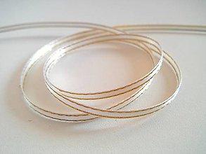 Galantéria - Stuha lurexová 3 mm krémová - 5099170_
