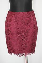 Sukne - Púzdrová sukňa z hrubej krajky - 5100422_