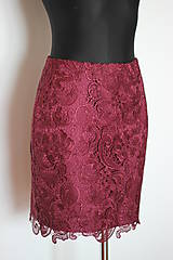 Sukne - Púzdrová sukňa z hrubej krajky - 5100423_