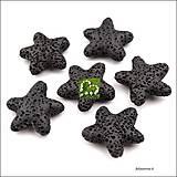 Minerály - Korálky lávové HVIEZDA - 5099378_