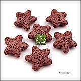Minerály - Korálky lávové HVIEZDA - 5099408_