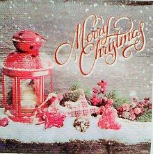 Papier - servítka Merry Christmas malá - 5097140_