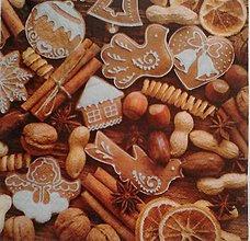 Papier - servítka vianočná perníková - 5097175_