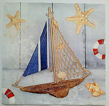 Papier - servítka námornícka - 5097200_