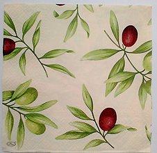 Papier - servítka s olivami - 5097230_