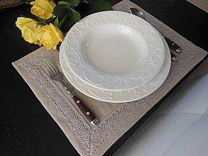 Úžitkový textil - Ľanové prestieranie Pure Beauty - 5098643_