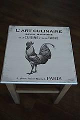 Nábytok - Vintage stolík s kohútom - 5096164_