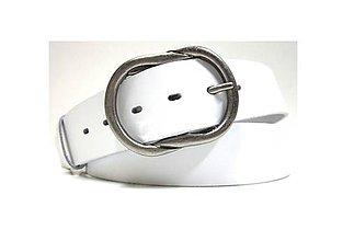 Opasky - Biely kožený opasok - 5102129_