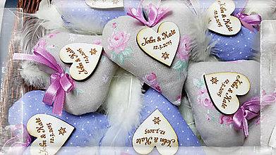 Darčeky pre svadobčanov - svadobné levanduľové srdiečka - 5103019_