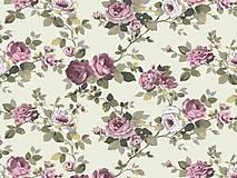 - Bavlnená látka s ružami - 5103580_