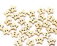 - Drevené gombíčky hviezdičky (balíček 10ks) - 5103967_