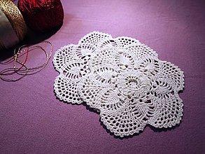 Úžitkový textil - Drobné ananásiky - 2 malé háčkované dečky s ananásovým vzorom - 5104643_