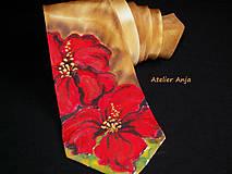 Doplnky - Hodvábna kravata Kvetinová k šatám - 5102651_