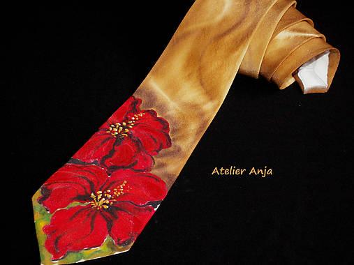 Hodvábna kravata Kvetinová k šatám