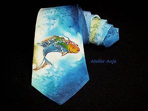 Doplnky - Hodvábna kravata V znamení ryby - 5102625_