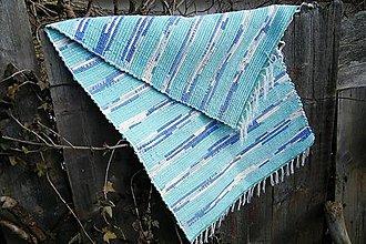 Úžitkový textil - Tkaný koberec tyrkysovo-modrý - 5104629_