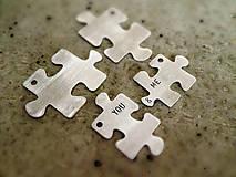 Kľúčenky - mini PUZZLE YOU & ME / menší brat väčšieho :) - 5108349_