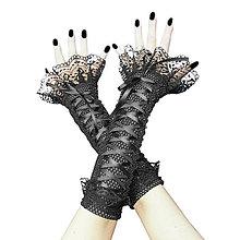 Rukavice - Gothic bezprsté rukavice s čipkou 1425AB - 5106878_