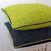 Úžitkový textil - Zelená a modrá je dobrá - 5106523_